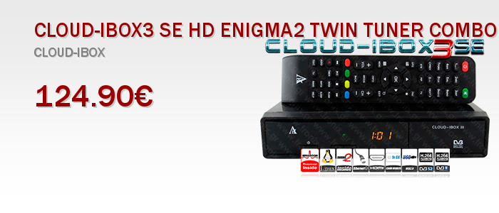 CLOUD-IBOX3 SE HD ENIGMA2 TWIN TUNER COMBO Δορυφορικος Δεκτης SAT Receiver
