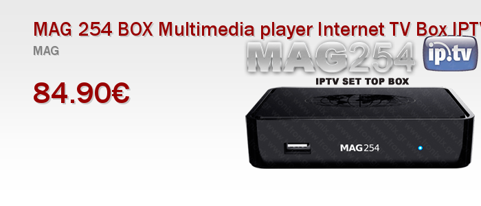 MAG 254 BOX Multimedia player Internet TV Box IPTV USB HDMI HDTV