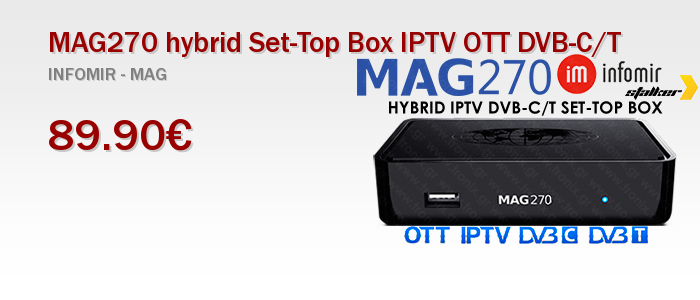 MAG270 hybrid Set-Top Box IPTV OTT DVB-C/T