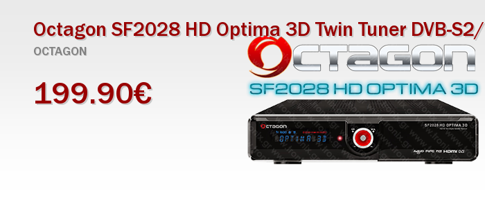 Octagon SF2028 HD Optima 3D Twin Tuner DVB-S2/DVB-T COMBO SAT Receiver Δορυφορικος Δεκτης Linux