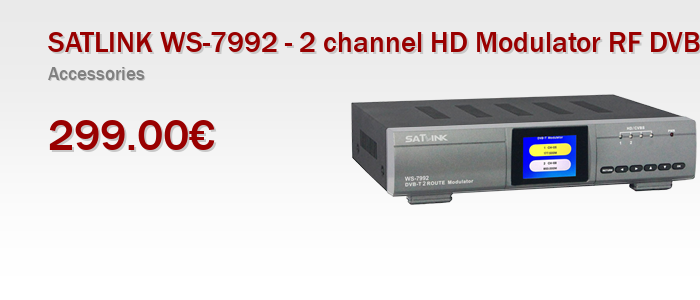 SATLINK WS-7992 - 2 channel HD Modulator RF DVB-T / AV / HDMI