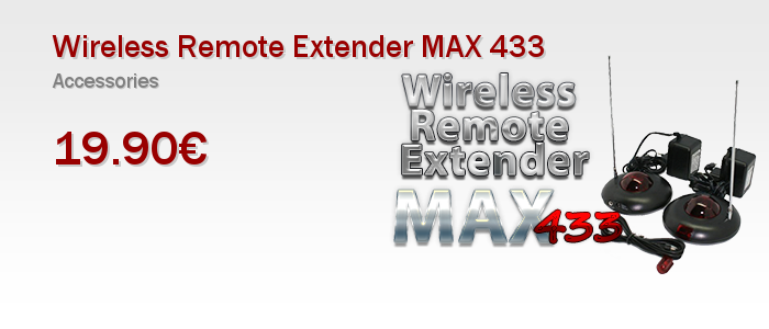 Wireless Remote Extender MAX 433