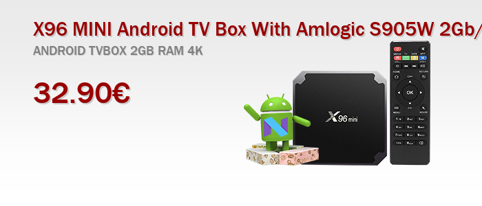 X96 MINI Android TV Box With Amlogic S905W 2Gb/16Gb Quad Core Android 7.1.2