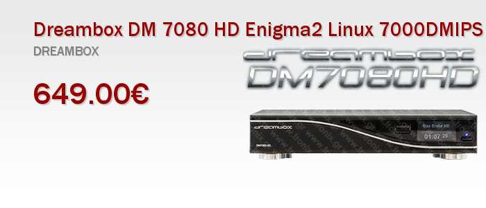 Dreambox DM 7080 HD Enigma2 Linux 7000DMIPS Dual Core SAT Receiver Δορυφορικος Δεκτης