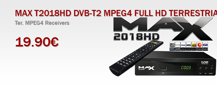 MAX T2018HD DVB-T2 MPEG4 FULL HD TERRESTRIAL