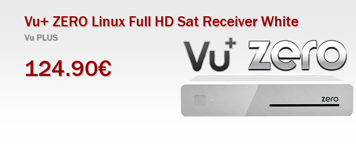 Vu+ ZERO Linux Full HD Sat Receiver White